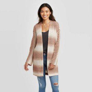 New Knox Rose Women's Striped Long Sleeve Cardigan